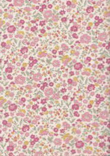 Sevenberry Japanese Ditsy Floral - Summer Garden Pink
