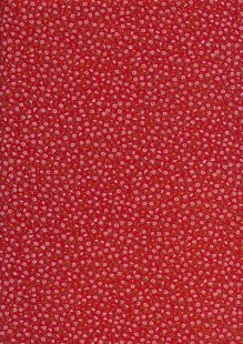 Sevenberry Japanese Ditsy Floral - Ditsy Daisy Red
