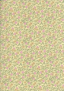 Sevenberry Japanese Ditsy Floral - Cherry Blossom Yellow
