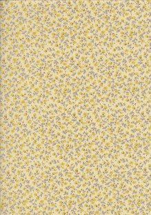 Sevenberry Japanese Ditsy Floral - Floret Yellow