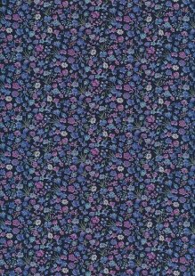 Sevenberry Japanese Ditsy Floral - Bouquet Navy