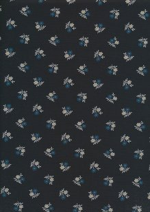 Sevenberry Japanese Ditsy Floral - Flower Motif Navy
