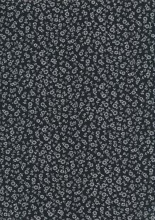 Sevenberry Japanese Ditsy Floral - Ditsy Dasisy Black