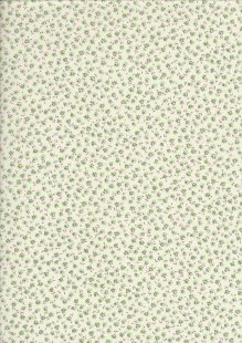 Sevenberry Japanese Ditsy Floral - Lilac Green