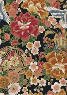 Authentic Gilded Japanese Fabric - 124