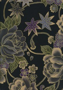 Authentic Gilded Japanese Fabric - 125