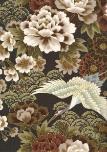 Authentic Gilded Japanese Fabric - 127