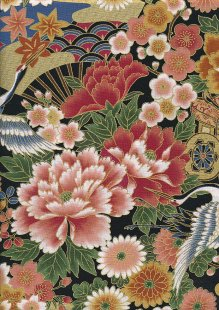 Authentic Gilded Japanese Fabric - 129