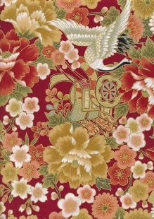 Authentic Gilded Japanese Fabric - 136