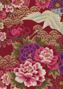 Authentic Gilded Japanese Fabric - 140