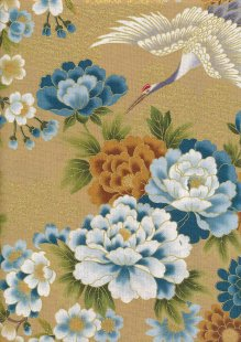 Authentic Gilded Japanese Fabric - 147