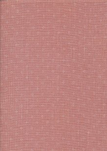 Sevenberry Japanese Linen Look Cotton - Plain Pink With Cross