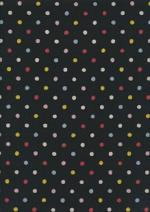 Sevenberry Japanese Linen Look Cotton - Plain Multi Spot On Black