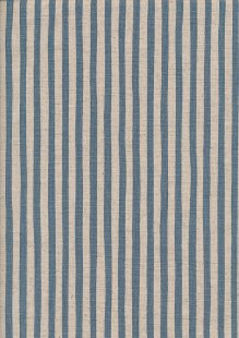 Sevenberry Japanese Linen Look Cotton - Plain Teal Stripe On Cream
