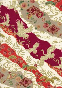Sevenberry Japanese Fabric - HR 3290R 12c