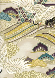 Sevenberry Japanese Fabric - HR 3290R 11a