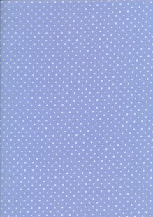 Fabric Freedom - White Pin Spot On Blue