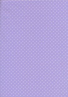 Fabric Freedom - White Pin Spot On Purple