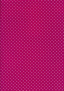 Fabric Freedom - White Pin Spot On Fuchsia
