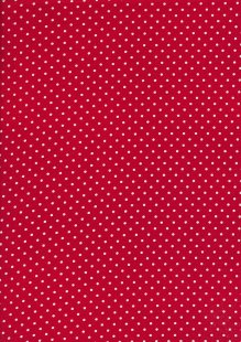 Fabric Freedom - White Pin Spot On Red