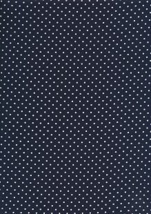 Fabric Freedom - White Pin Spot On Navy