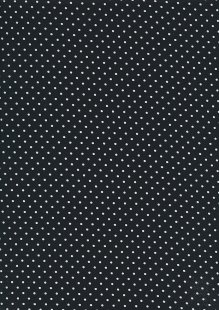 Fabric Freedom - White Pin Spot On Black