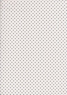 Fabric Freedom - Navy Pinspot On White