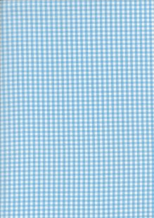 Seven Berry Japanese Fabric - Turquoise Gingham