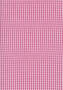 Seven Berry Japanese Fabric - Fuschia Gingham