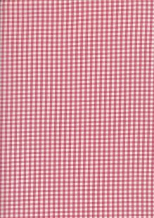 Seven Berry Japanese Fabric - Dusty Pink Gingham