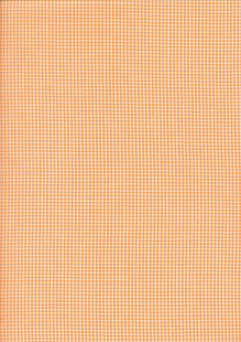 Seven Berry Japanese Fabric - Orange Small Gingham