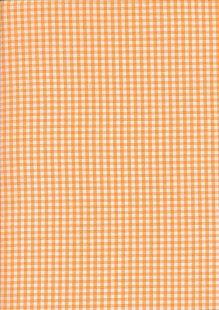 Seven Berry Japanese Fabric - Orange Gingham