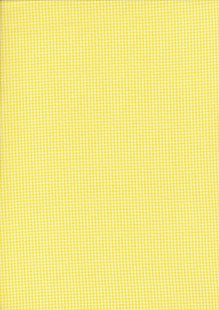Seven Berry Japanese Fabric - Yellow Small Gingham