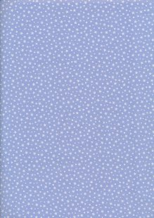 Fabric Freedom - Scattered White Stars On Blue
