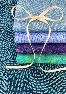 Sew Simple Bali Batik - 5 x Fat 1/4 Pack A19-3