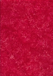 Sew Simple Bali Batik - Pressed Floral Red-179-24-38