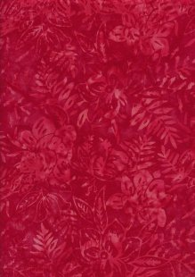 Sew Simple Bali Batik - Floral Leaf Red-334-28-38