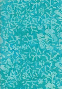 Sew Simple Bali Batik - Butterfly Turquoise-116-18-71
