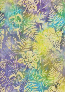 Sew Simple Bali Batik - Floral Leaf Multi-334-28-12