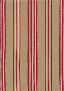 Canvas Ticking - Red & Brown