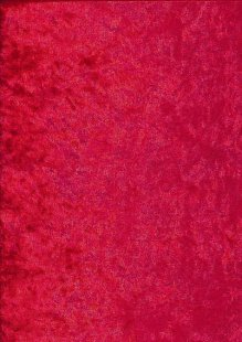 Polyester Velour - Red