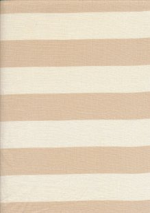 Linen - Cream Wide Stripe