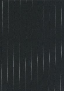 Linen Mix - Black Pinstripe
