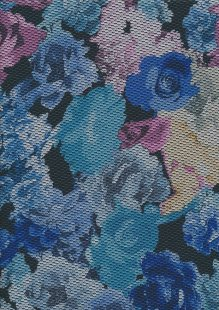 Jersey Fabric - Textured Floral 23
