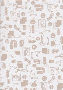 Studio E - Small Talk Haberdashery Taupe