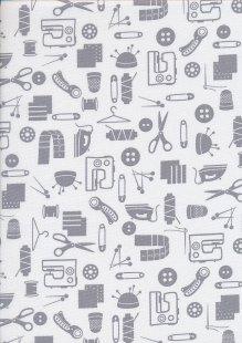 Studio E - Small Talk Haberdashery Grey