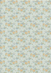 Tilda Fabrics - Maple Farm Gracie Teal 100279
