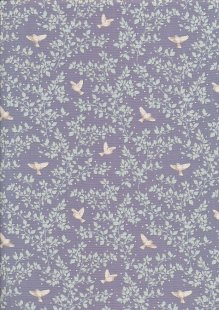 Tilda Fabrics - Maple Farm Birdie Blueberry 100271