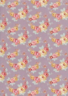 Tilda Fabrics - Maple Farm Pauline Mauve 100264