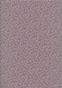 Tonal Sprig - Cream On Purple